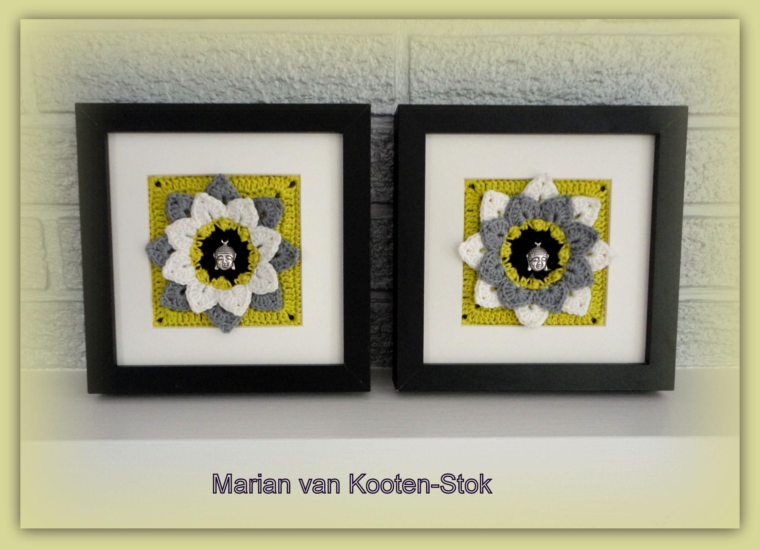 Crochet inspiration - Cute wall decor made from crochet granny ...
