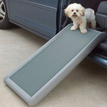 Lightweight pet ramp with a high-traction walking surface. Product: Pet rampConstruction Material: Polyethylene