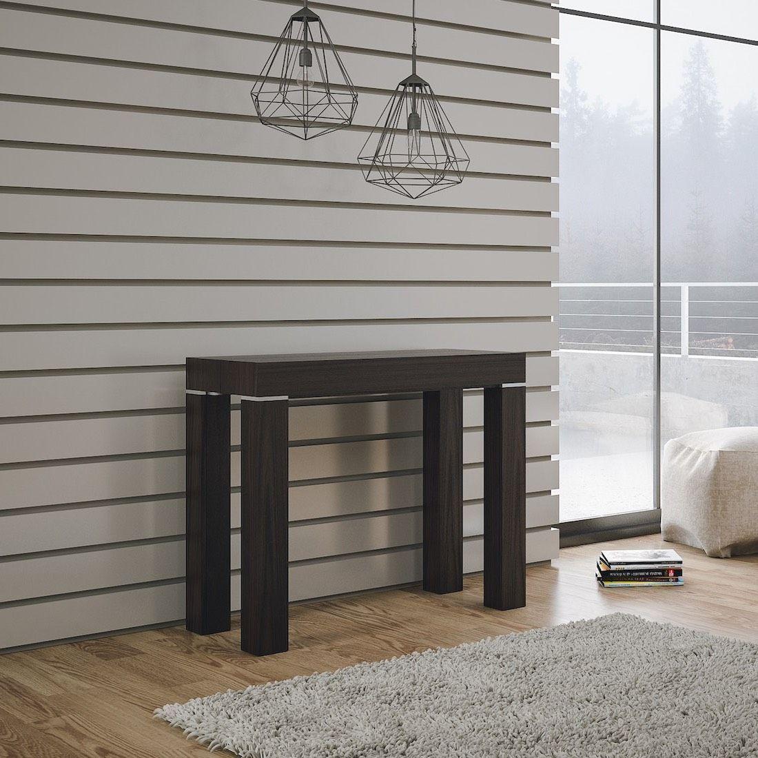 Tavolo Ribaltabile A Parete tavolo consolle allungabile desmond 110 design moderno