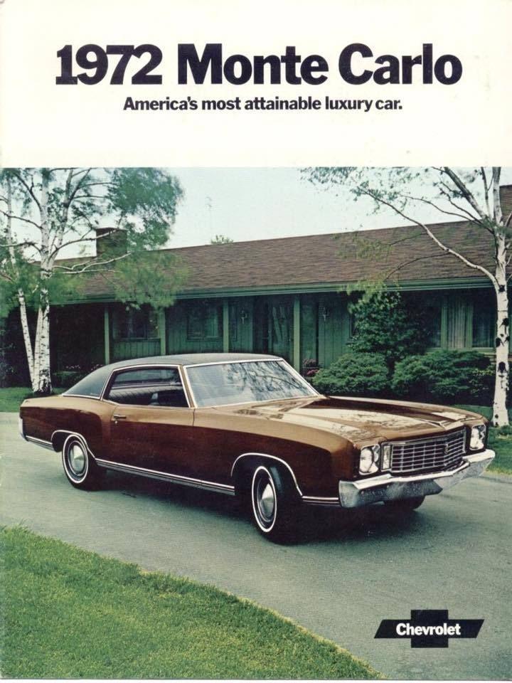 Publicite Chevrolet Monte Carlo 1972 Source Collectible