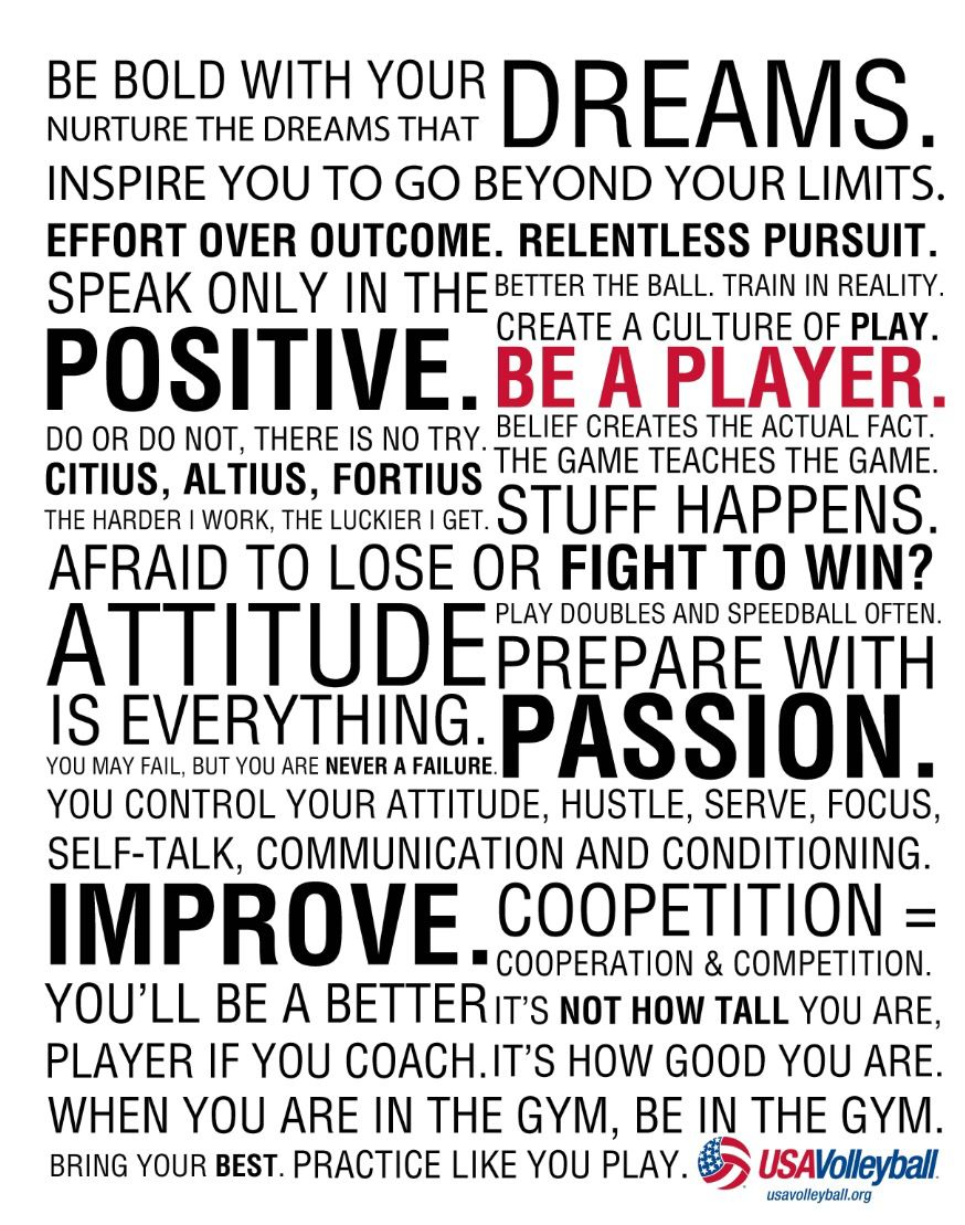 0010 Player Manifesto Usa volleyball, Volleyball quotes, Cool