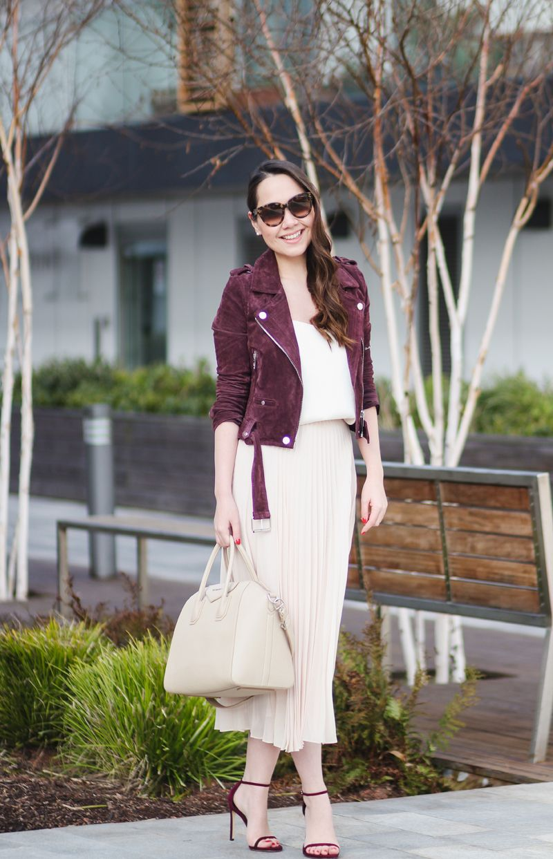 fe6c11301894 Pleated // Biker Jacket & Delicate Skirt   Chase Amie   Style ...