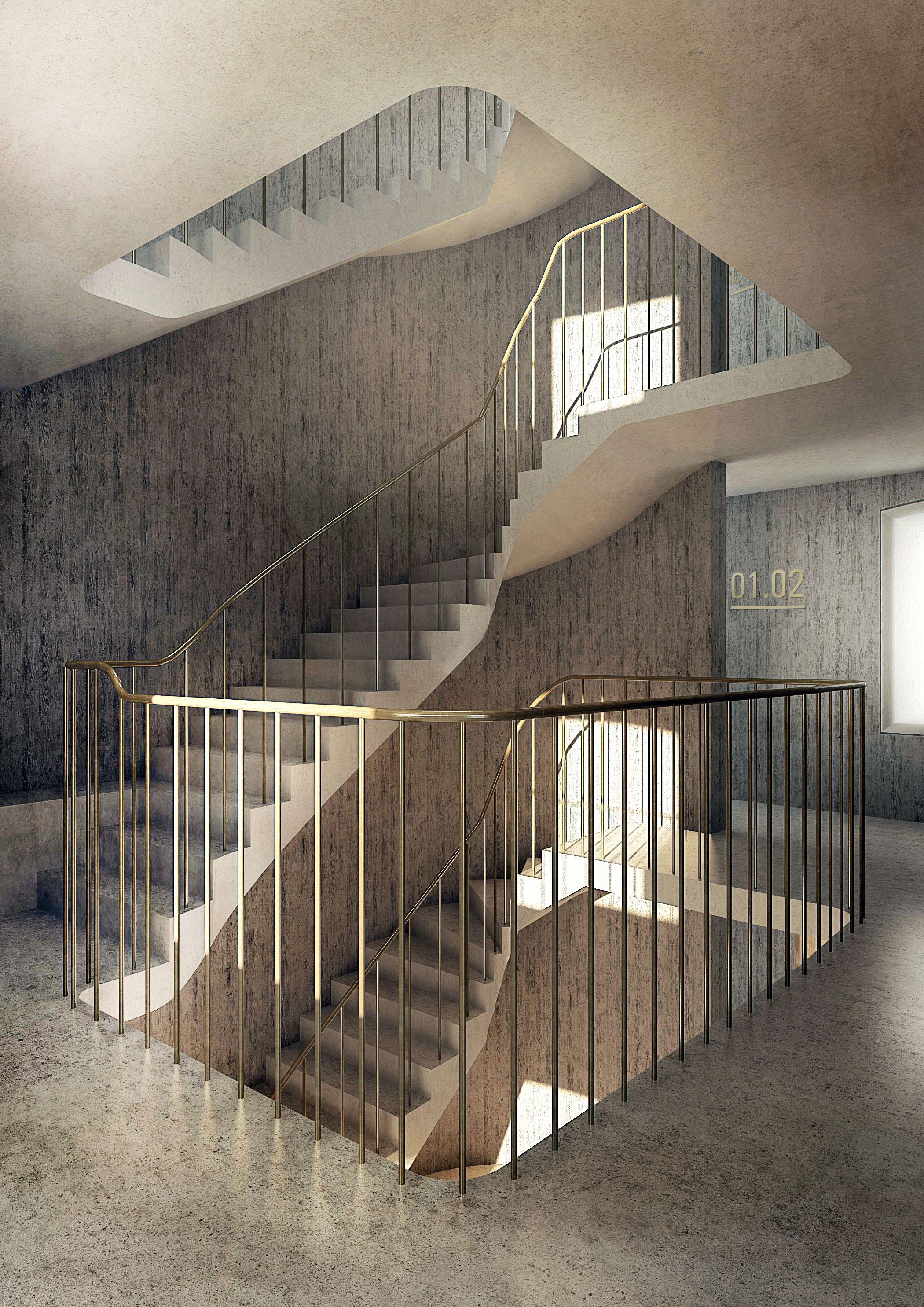 Eks bygning_ny in-situ trappe
