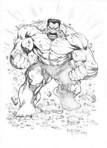 Fernando Merlo Ilustracao Quadrinhos Storyboards Page 9 Red Hulk Marvel Coloring Hulk Marvel