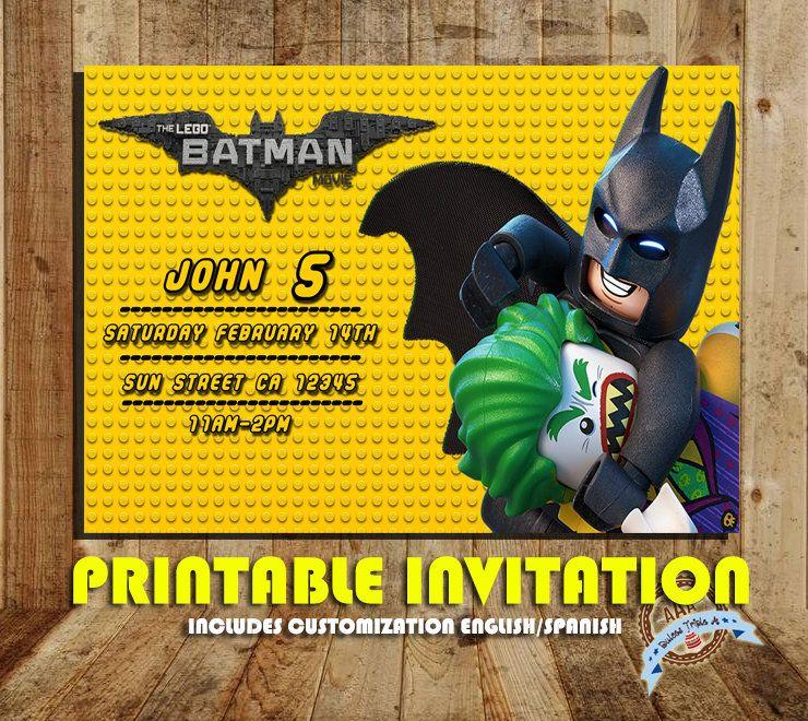 Invitacion Lego Batman Invitaciones De Cumpleaños