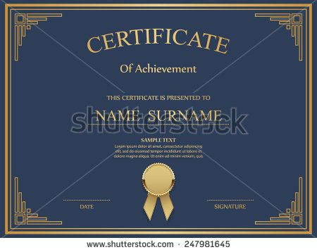 Vector certificate template Certificate   Diploma Pinterest - new printable stock certificate template
