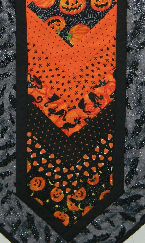 Cool Handmade Machine Quilted Cotton Halloween Table Runner Download Free Architecture Designs Xaembritishbridgeorg