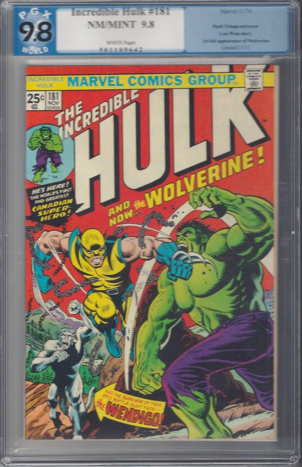 archived! $ 9359   Incredible Hulk 181 9.8 Graded Pgx 1st Wolverine. Rare High . #comics #hulk https://t.co/snx7Q8Voak