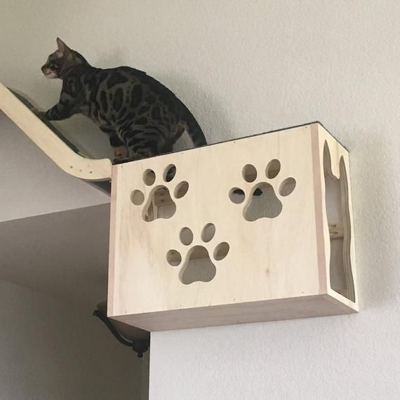 Hanging play box for cats, put on wall or floor Кошачий