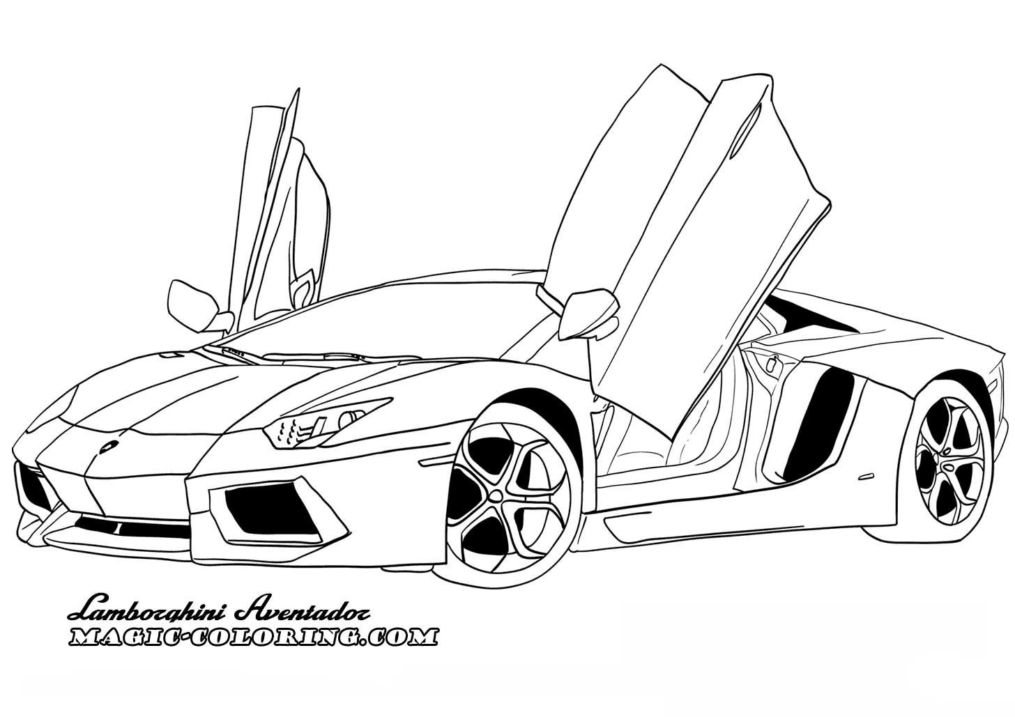 Lamborghini Aventador Coloring Page Cars Coloring Pages Truck Coloring Pages Race Car Coloring Pages