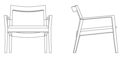 Front And Side Views Of The Chair Chair Lounge Chair Traditional Chairs