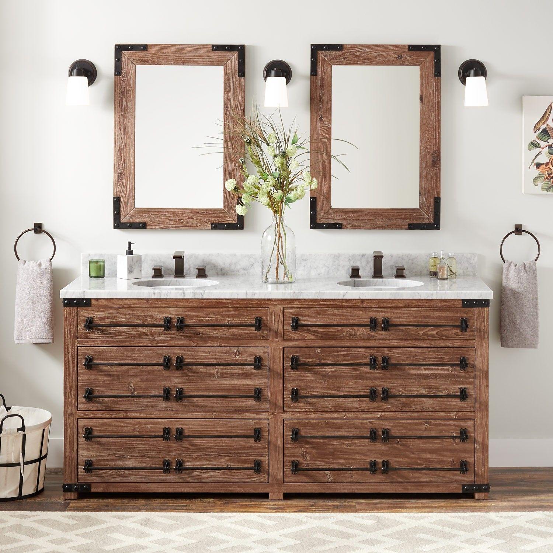 72 Bonner Reclaimed Wood Double Vanity For Undermount Sink Pine