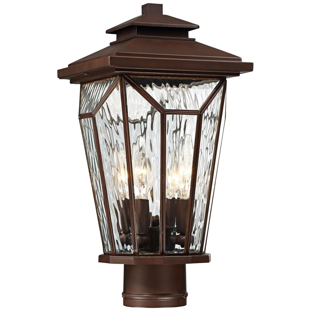 Satomi 15 3 4 H Alder Bronze Faceted Outdoor Post Light Style 9g350 Outdoor Post Lights Post Lights Lamp Post Lights