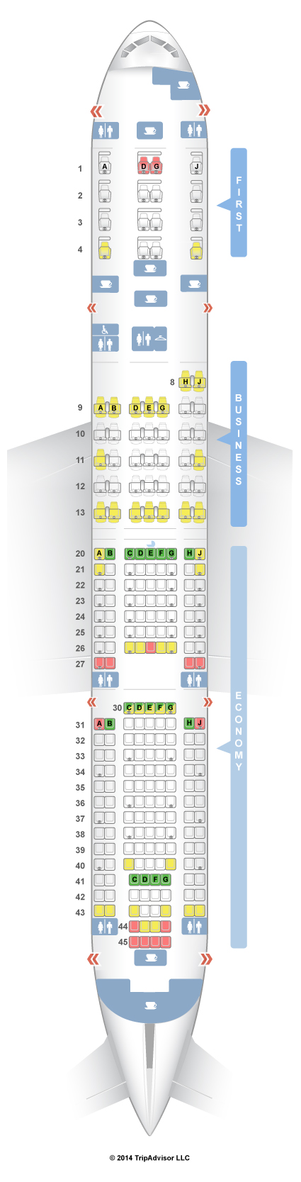 Seatguru Seat Map American Airlines Boeing 777 200 V1