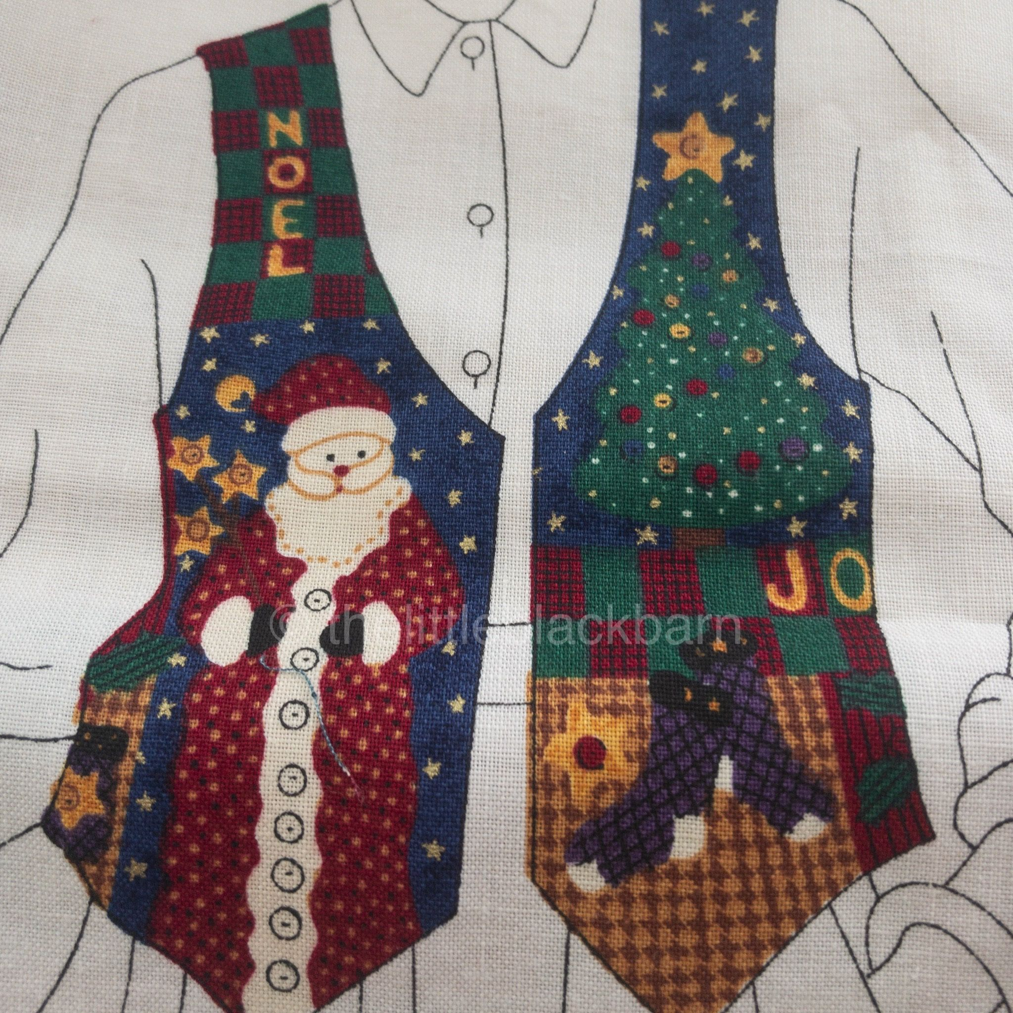 Christmas twal print vest sourcewise investments pants