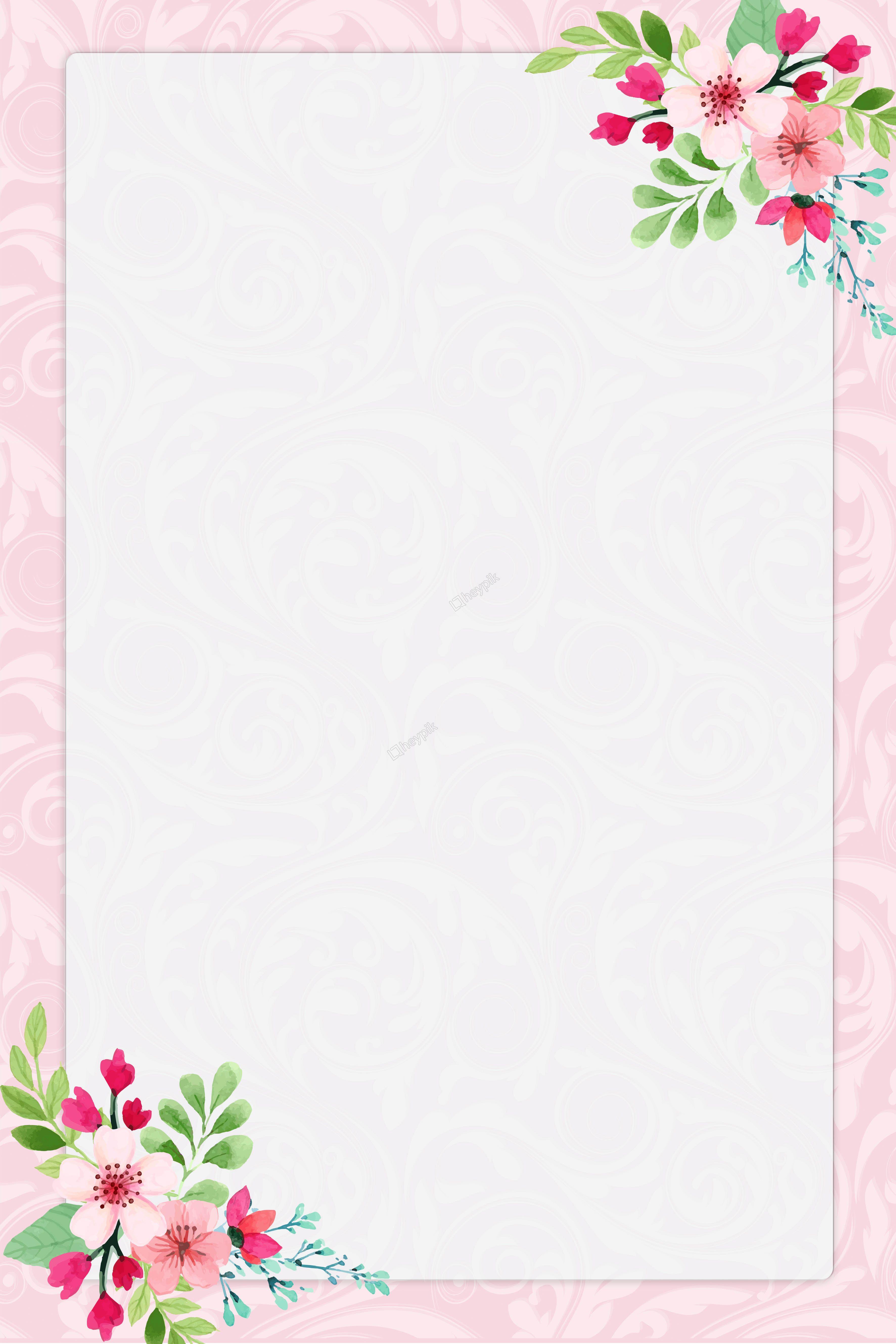 Download Flower Border Wallpaper Desktop Watercolor Design Floral