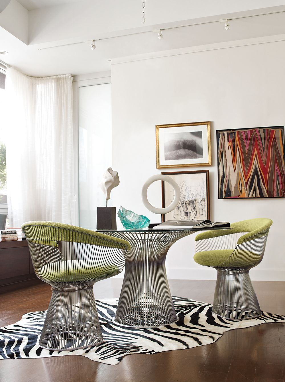 Platner Armchairs And Dining Table Repin Via Luis Fernandez