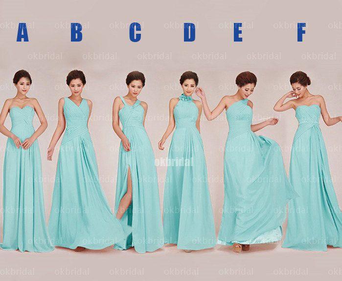Tiffany blue bridesmaid dress chiffon bridesmaid dress by okbridal ...