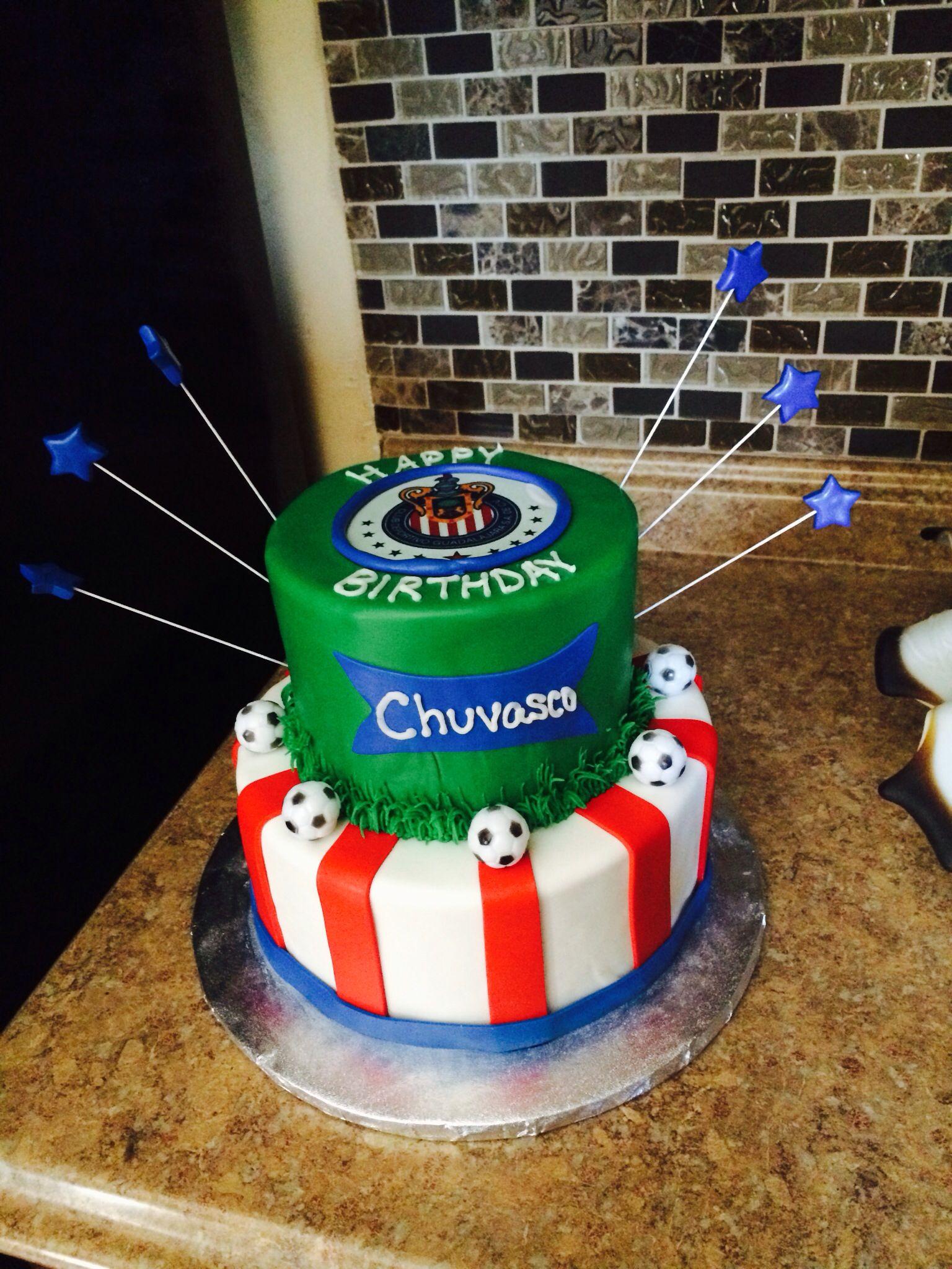 Soccer Chivas Team Birthday Cake Mexican Birthday Birthday