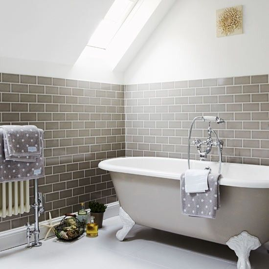 Take A Tour Around A Period Style Cottage Country Bathroom Decor Attic Bathroom Tile Bathroom