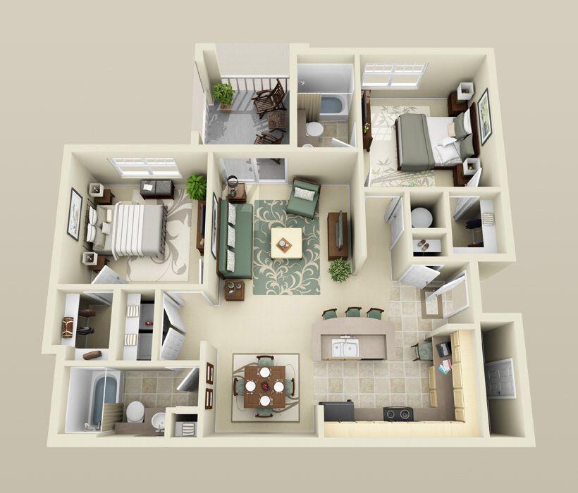 Alta Surf 2 Bed 2 Bath Apartment Layout Studio Apartment Floor Plans Studio Apartment Plan