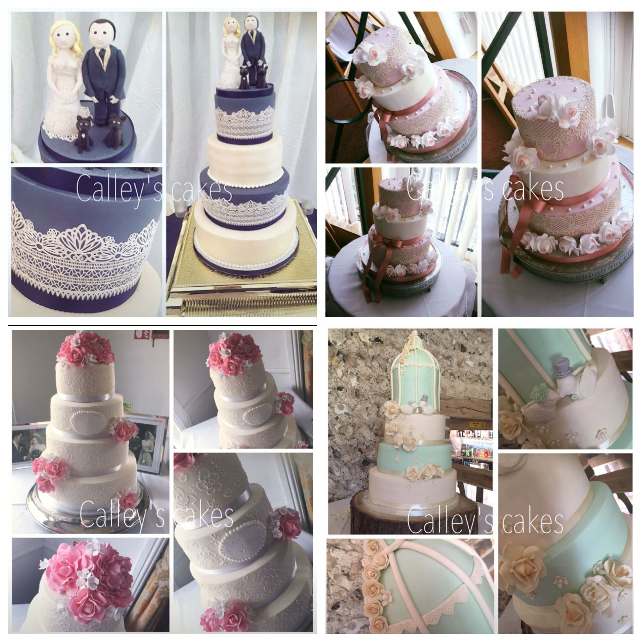 Pin by Calleys Cakes on Wedding cakes Wedding cakes