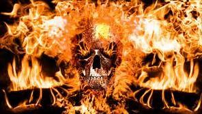 Flaming Skull By Novak65