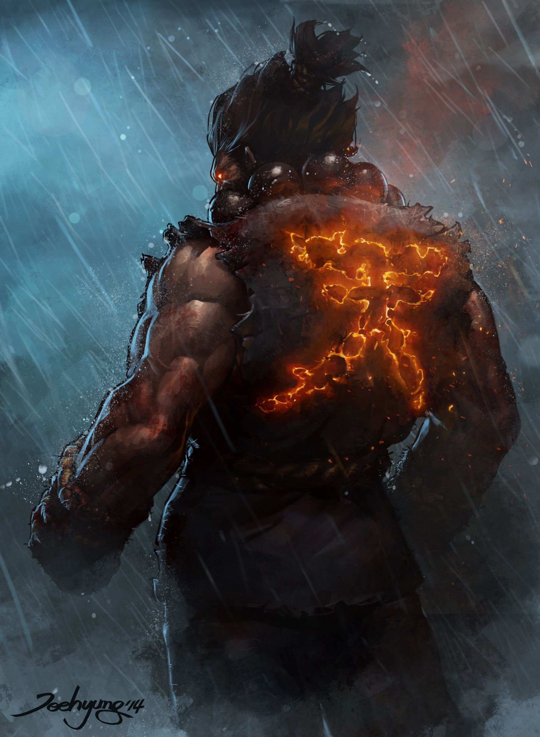 Jeehyung Jeehyung Lee Akuma Street Fighter Street Fighter Art Street Fighter