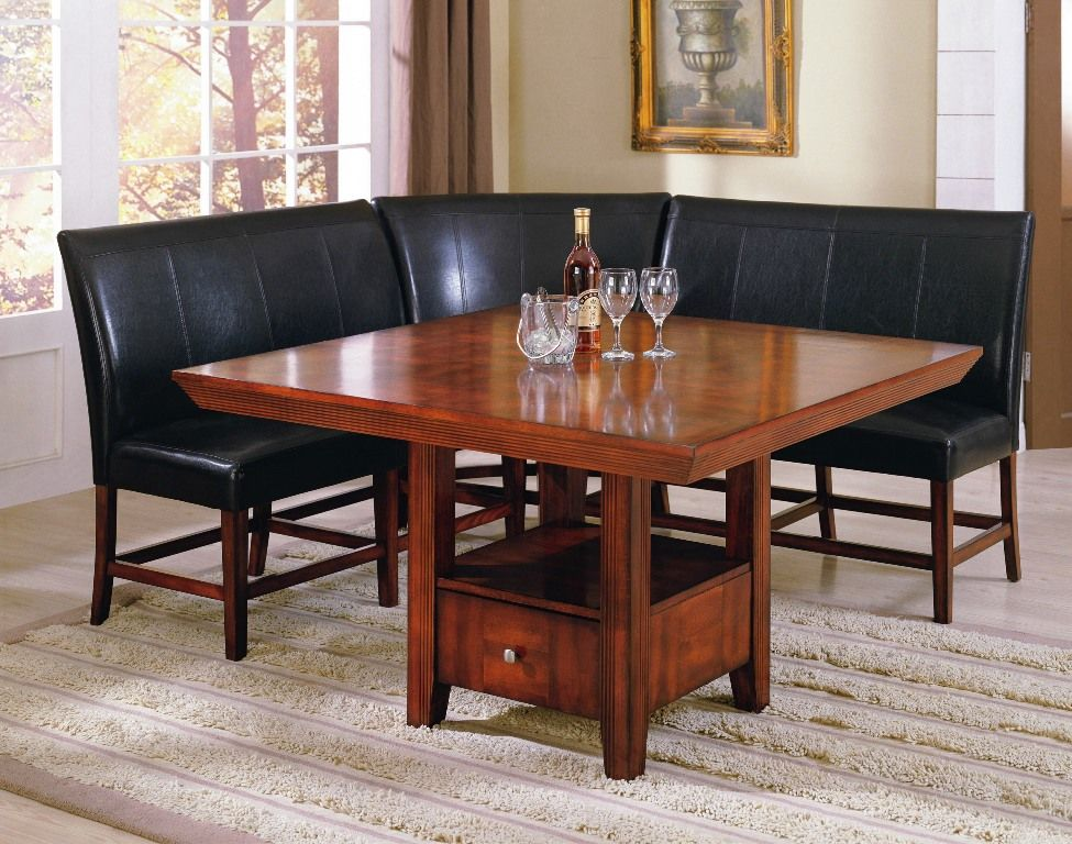 Furniture Graceful Dining Table High Back Bench From The And