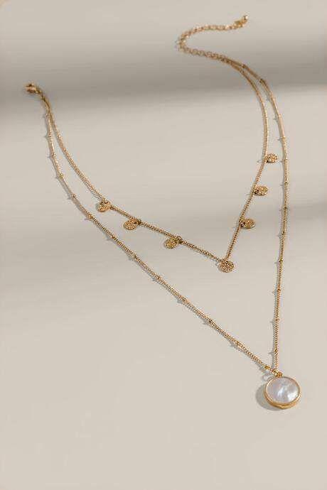 Photo of Isabela Round Drop Layered Necklace