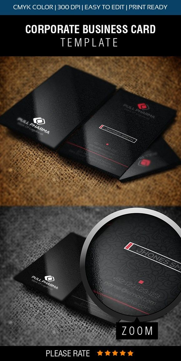 Classic Black Modern Business Card | Business cards, Font free and ...