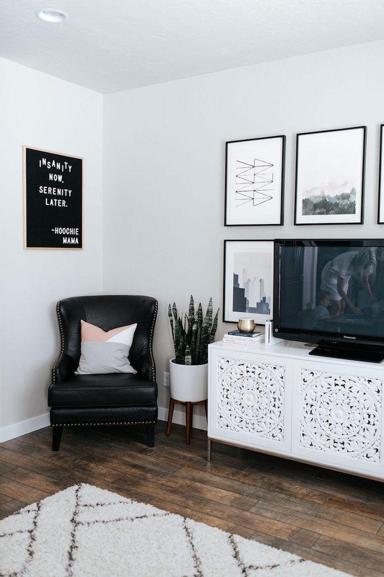 wohnen stil einrichtungsstil schwarz weiss modern skandinavisch holz ...