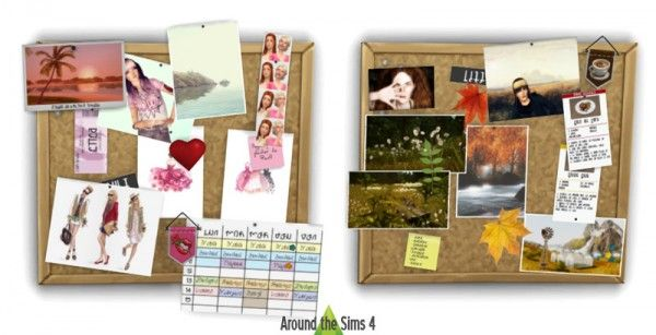 Around The Sims 4: Customize your pinboard/corkboard! • Sims 4 Downloads