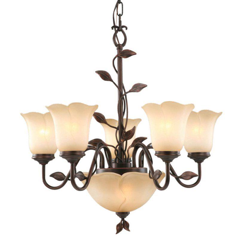 Allen + Roth 7-Light Eastview Bronze Chandelier