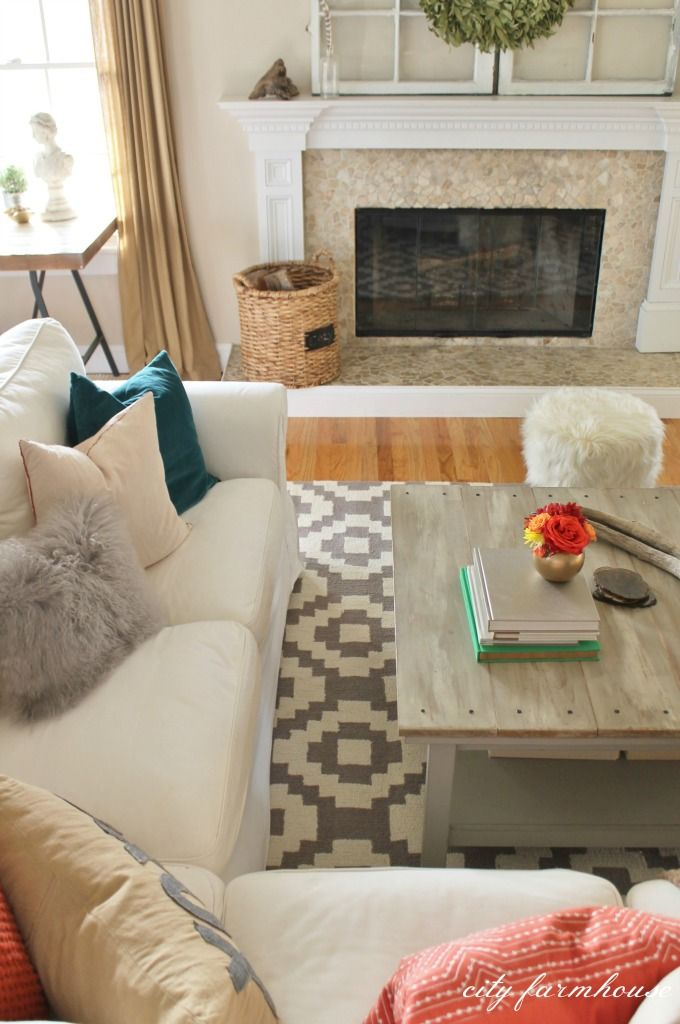 Rustic Chic Family Room New Rug