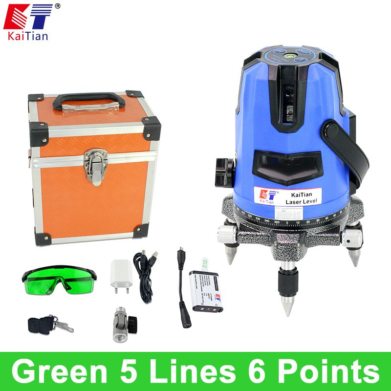 Us 147 96 Kaitian Laser Level Green 5 Lines 6 Points Self Leveling 360 Rotary Vertical Green Kaitian Laser Level Leveling Lines Points Rotary Self