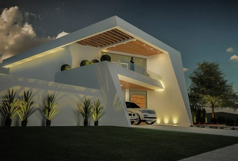 Modern Home Design 12x30 Meters 3 Bedrooms Home Ideas Facade House Architecture House Architecture