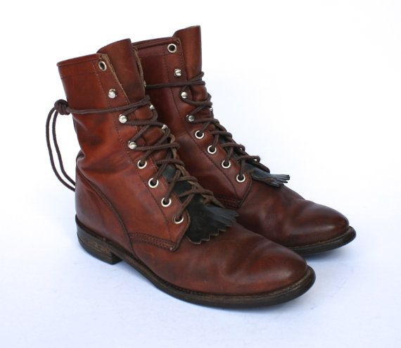 Justin botas occidentales vintage