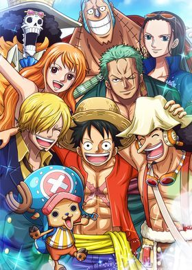 'Straw hats One piece' Poster by OnePieceTreasure  | Displate