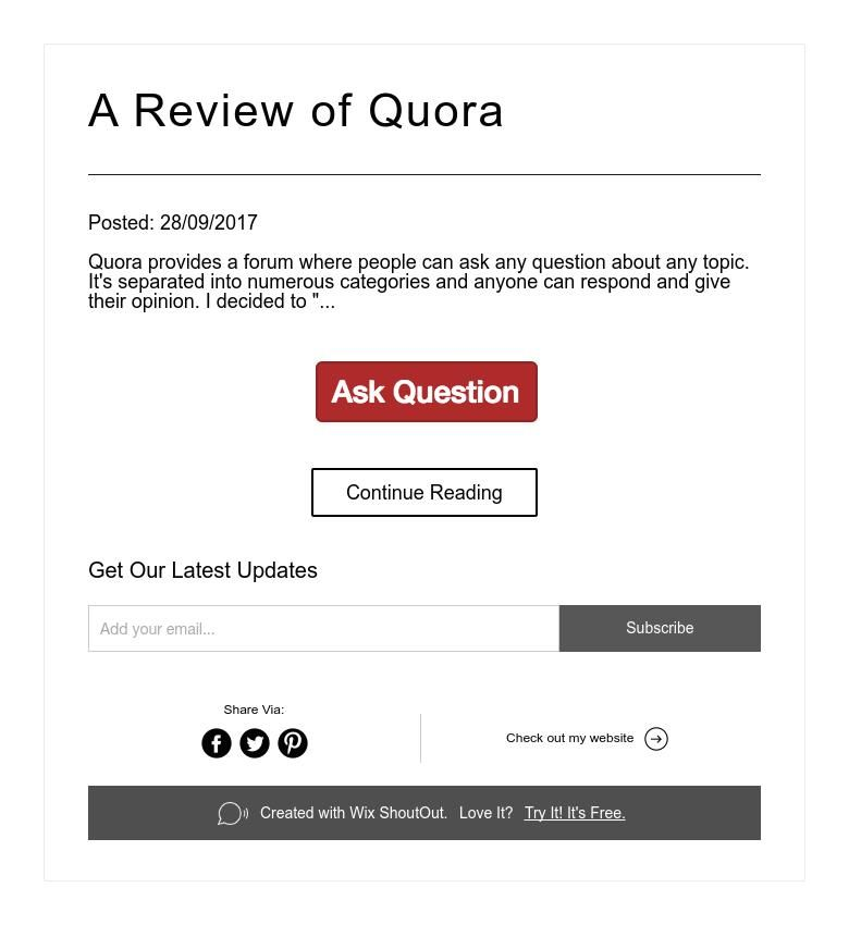 A Review of Quora