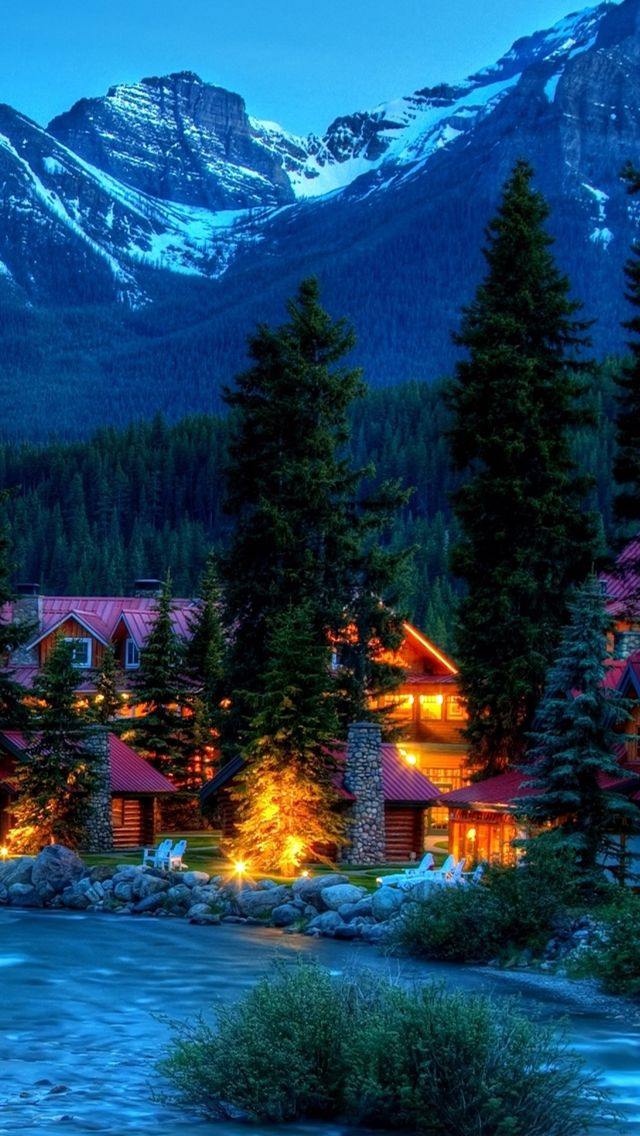 Mountain resort iPhone 5s Wallpaper Download more