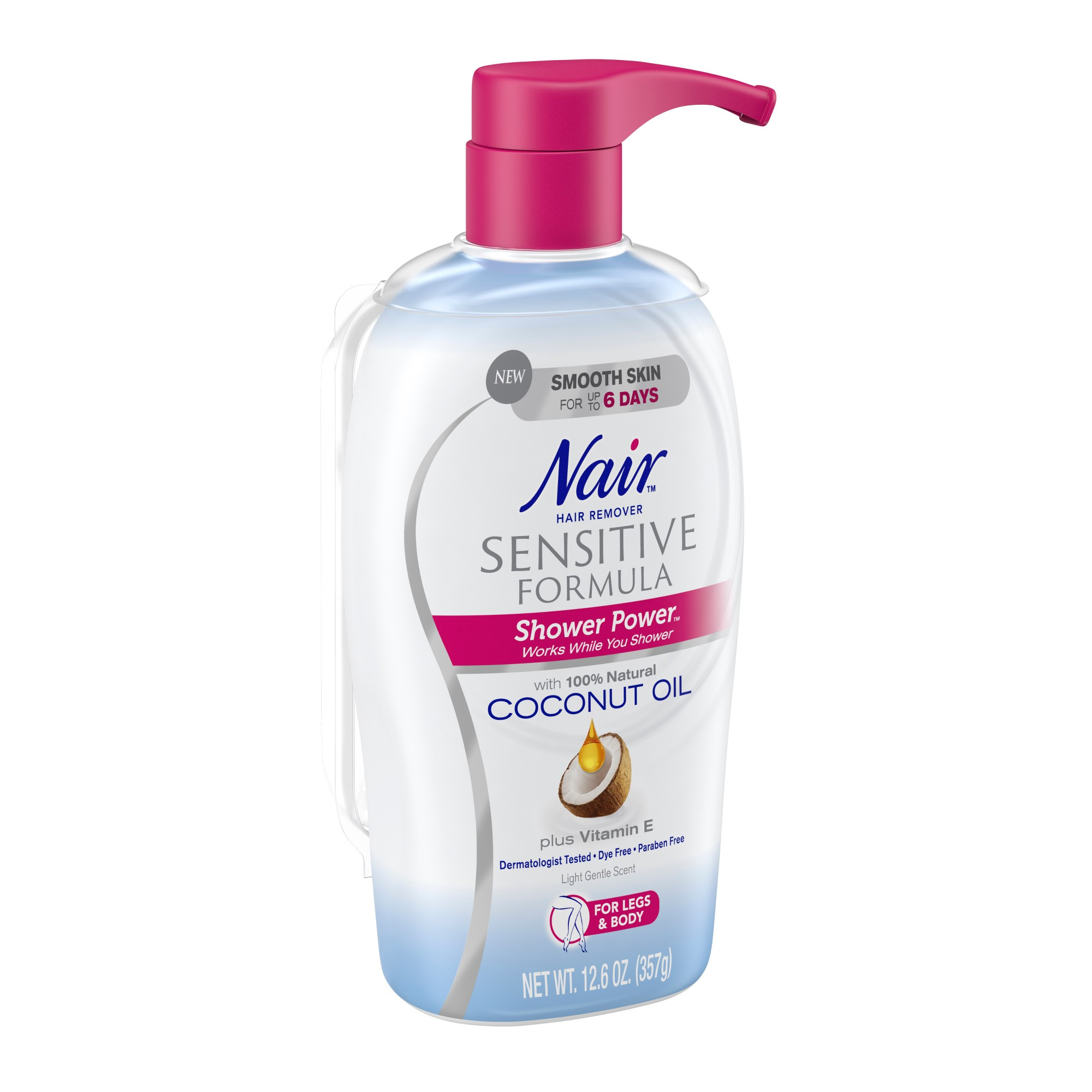 Nair Hair Remover Sensitive Formula Shower Power With Coconut Oil And Vitamin E 12 6oz Coconut Oil For Acne Coconut Oil For Skin Coconut Oil Hair