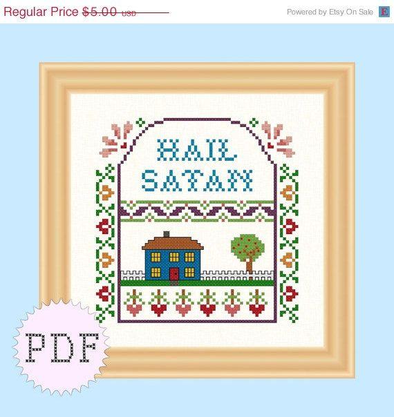 SALE Black Fri Cyber Mon PDF Cross Stitch by DisorderlyStitches