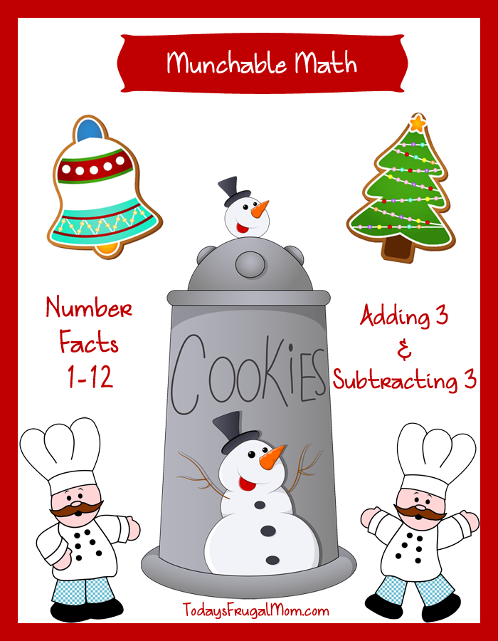 Free Elementary Math Worksheets Munchable MathChristmas Cookies – Math for Everyone Worksheets