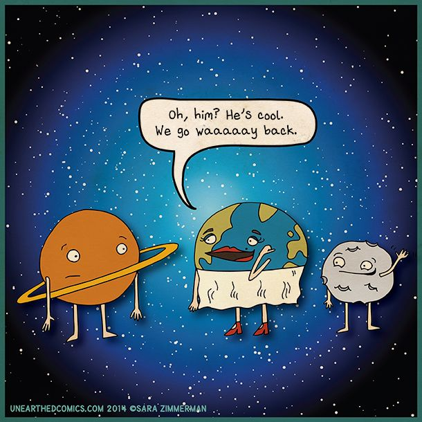 Astronomy comic and science cartoon about earth and moon ...