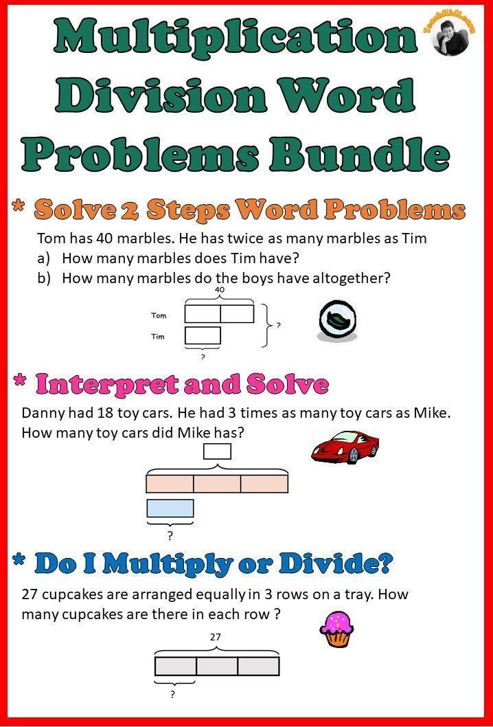 multiplication division word problems worksheets bundle. Black Bedroom Furniture Sets. Home Design Ideas