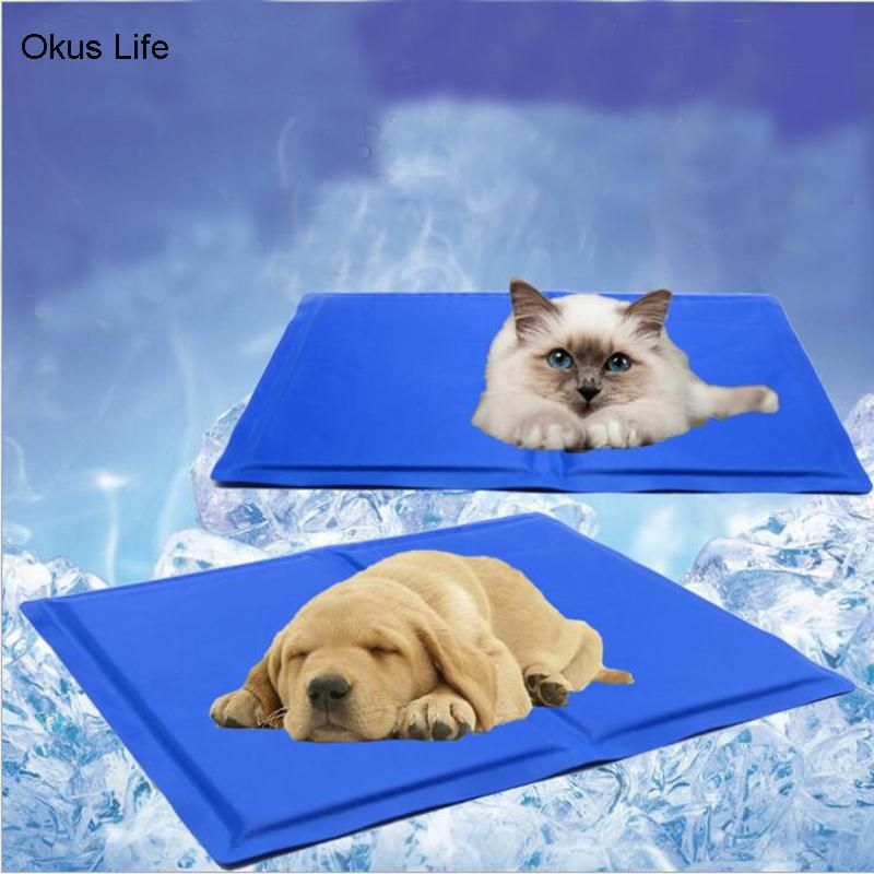 Summer Dog Cooling Mat Pet Ice Pad Teddy Mattress Mat Small Large Cat Cushion Summer Keep Cool Pet In 2020 Dog Cooling Mat Dog Pet Beds Pets