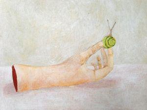 """Rachel Heinold: Time, acrylic on panel, 9"""" x 12"""", 2013"""