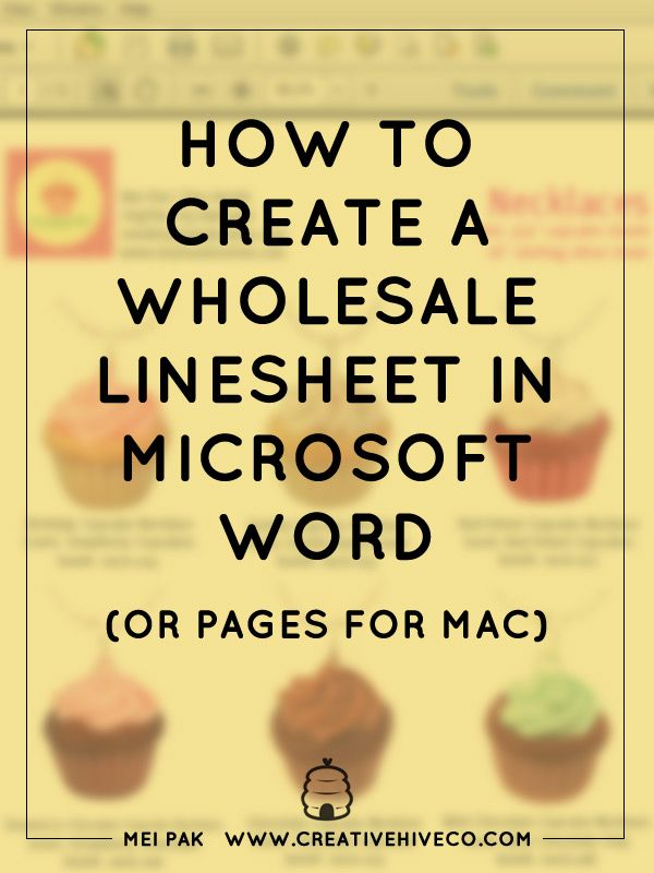 How to create a wholesale linesheet in Word or Pages Microsoft - sample line sheet template