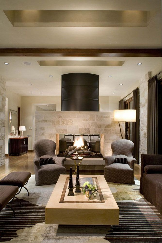 Cozy Living Room Design In Ranch House | Living Room Ideas ...